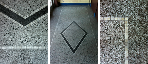 a few views of the terrazzo floors in the main entry grand stairway and hallways terrazzo has been used as a building material for thousands of